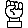 Solidarity fist icon